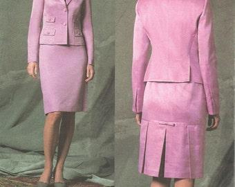 Vogue 2828 / Designer Sewing Pattern By Donna Karan DKNY / Skirt Jacket Suit / Size 14 16 18