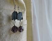 Navy Purple earrings