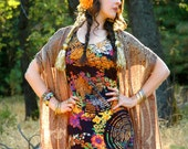 Size Small... Vintage 1960s Psychedelic Maxi Dress... Mind Blowing Pattern... RIPPLES