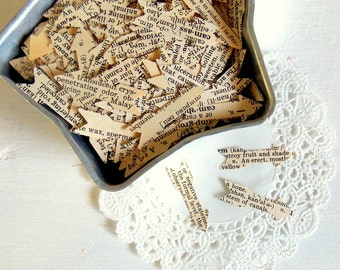 Vintage Dictionary Arrow Confetti / Wedding Decor / 50 Pieces / Table Confetti