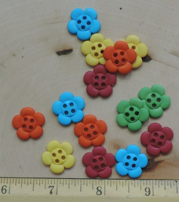 """Flower Buttons, Packaged Novelty Button Assortment, """"Tropical Flowers"""" by Dress It Up Jesse James Sew On Flower Buttons, Crafting, Sewing"""