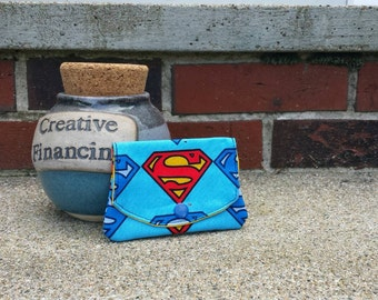 Super Man Sheld grab-n-go credit card wallet