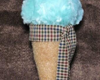 Mint Ice Cream Cone Ornament
