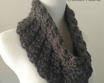 CROCHET PATTERN - Chunky Cowl Crochet Pattern, Neckwarmer Pattern, Easy Crochet Pattern, Beginner Crochet Pattern