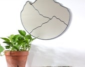 "Mountain Mirror Handmade Mountain Range Wall Mirror Large 20"" Organic Mtn Cascades Blue Ridge Great Smokey Appalachian 20"""