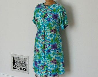 Vintage 1960s Dress - 60s Floral Dress - The Sara