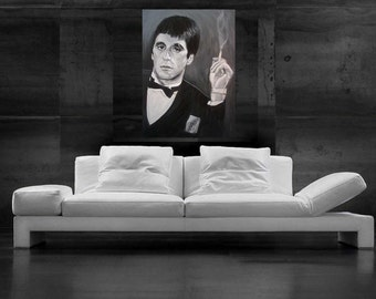 Scarface Painting Al Pacino Canvas Print