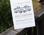 Instant Download Vintage Damask Wedding Thank you sign - Keepsake thank you wedding sign - Printable
