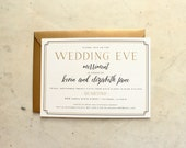 party, rehearsal dinner or shower invitation - black and gold