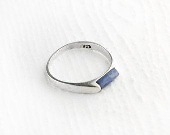 Minimalist Lapis Sterling Silver Ring