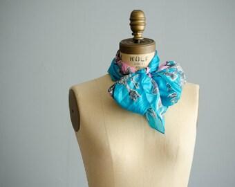 1950s Silk Scarf - Vintage 50s Scarf - Candy Shop Silk Scarf