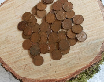 Lot of 10 Vintage Wheat Pennies
