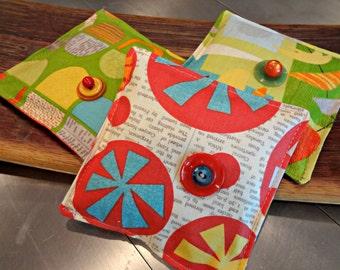 French Lavender Retro Fabric Sachet Pillows (set of 3)