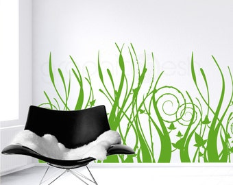 Wall decals TALL TRIBAL GRASS Interior decor surface graphics by Decals Murals