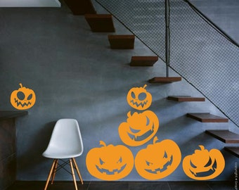 HALLOWEEN PUMPKINS wall decals - Seasonal interior decor - Surface graphics