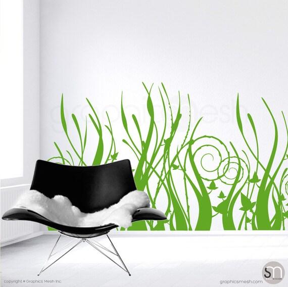 Wall decals tall tribal grass interior decor surface graphics for Tall grass decor