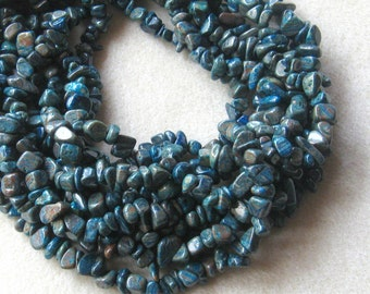 Blue Ribbon Jasper Chip Beads, Gemstone Beads, Jewelry Making Beads, Craft Supply, Chip Beads, Blue Jasper Beads, Imperial Turquoise