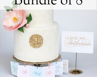 Wedding Shower Game - 8 Charm Cake Pulls for your Bridesmaids and Mother of the Bride Gift
