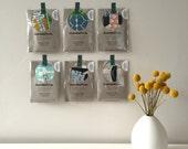 LAST ONE | Scrap Pack | Umbrella Prints Fabric | Modern Fabric Scrap Pack | Scrap Bag | Fabric Trimmings | Organic Fabric