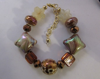 All About the Browns Glass Beads Bracelet