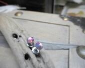 Little Sparklers© - Aurora. Shimmery AB pinkish Crystals & titanium post earrings. Darling petite crystal stud earrings. Hypoallergenic