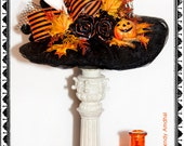 Halloween Witch Hat, Headband, Black, Orange, Costume, With, Hat, Autumn, Pumpkin, Fall Leaves, Ghost, All Hallow's Eve