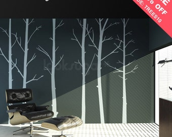 Tree Wall Decal - Removable Tree Wall Decal - Winter Tree Decal - LSWD-0031