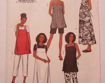 Easy to Sew Maternity Top, Dress, Shorts and Pants UNCUT Butterick Sewing Pattern 3406 Sizes 14,16,18