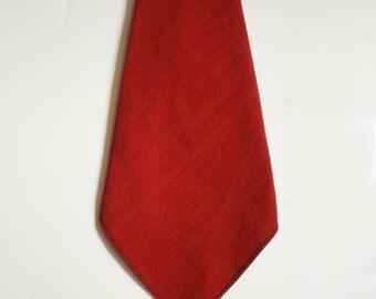 Vintage Red Linen Tie