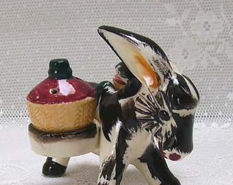 Donkey, Salt and Pepper Shakers - 1950s - Made in Japan