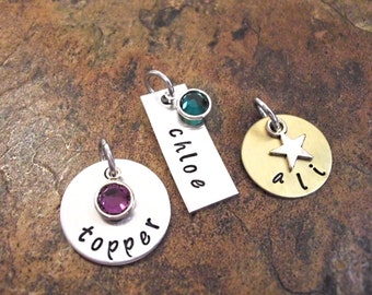 Add a Name or Date Disc with a Crystal or Heart/Star Topper