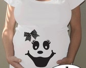 Ghost Maternity Halloween shirt - belly bump - with or without hairbow - great easy maternity costume, limited edition
