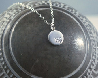 VIRGO dainty coin necklace small silver zodiac necklace Virgo symbol jewelry Meaningful thoughtful gift or great layering necklace Star sign