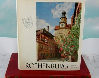 Rothenburg Over The Tauber Vintage 1960 Hardcover German Town Photo Book