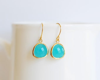 Samantha Earrings - Gold/Turquoise
