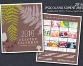 2016 PRINTABLE CD Case Calendar - Woodland Adventures