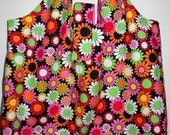 BIG ToteRoll Reusable Grocery Tote Bag - Retro Flower Power