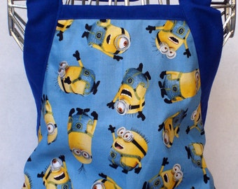 Kids Apron Blue Tossed Minion Gift For HIm