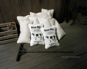 Cow feedsack - dollhouse miniature