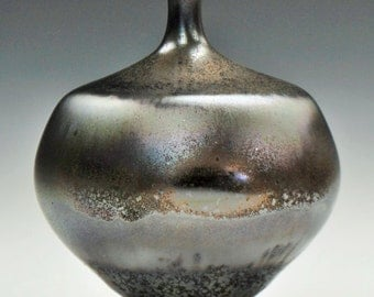 Irridescent Copper Crystalline Pottery Porcelain Vase