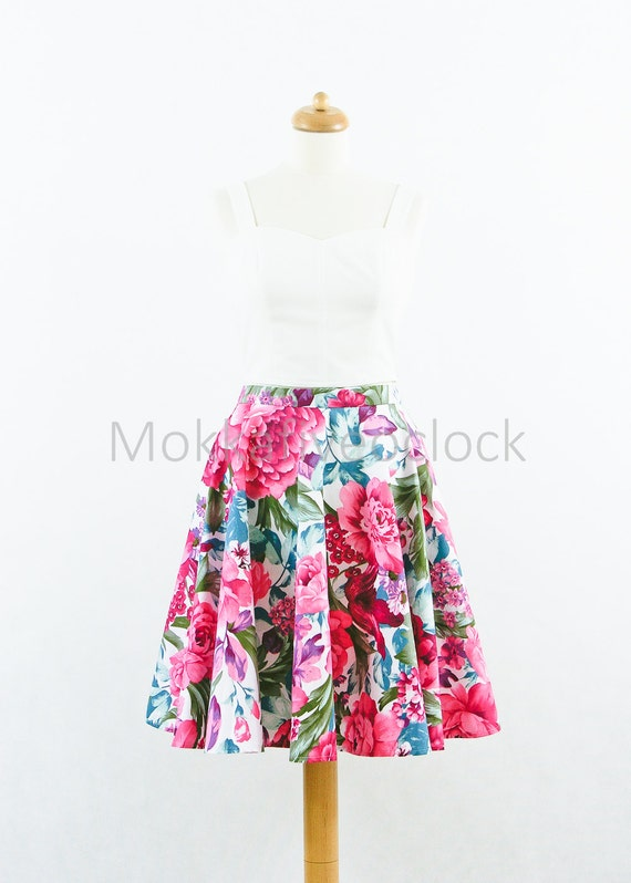 Purple Floral Skirt 120
