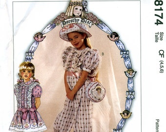 McCall's 8174 Children's Jumpsuit, Hat and Purse Sewing Pattern - Uncut - Size 4, 5, 6