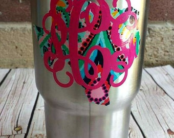 Decal Monogram for 30 oz. Yeti ***Pick your state***
