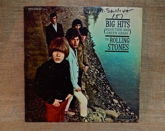 CRAZY CUPID SALE The Rolling Stones - Big Hits (High Tide and Green Grass) - 1966 Vintage Vinyl Gatefold Record Album