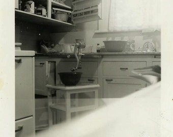 "Vintage Photo ""Full of Aromas"" Kitchen Home Decor Snapshot Photo Old Antique Photo Black & White Photograph Found Photo Paper Ephemera - 27"