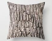 Camouflage Pillow Cover, Tree Bark Cover Camo Pillow Cover, Nature Home Decor, Woodland Decor, Pine Bark