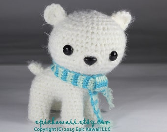PATTERN: Peppermint the Polar Bear Cub - Teacup Pet Collection Crochet Amigurumi Doll