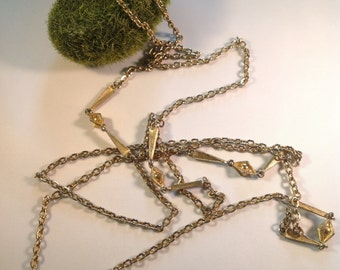 60's Geometric Chain Necklace