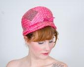 50% OFF SALE / 1960s vintage hat / straw hat / Bubblegum