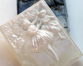 DEGAS  BALLERINA  SOAP, Edgar Degas - Two Dancers on the Stage 1874, Black or White Highlight, Clear Backing, Custom Scented